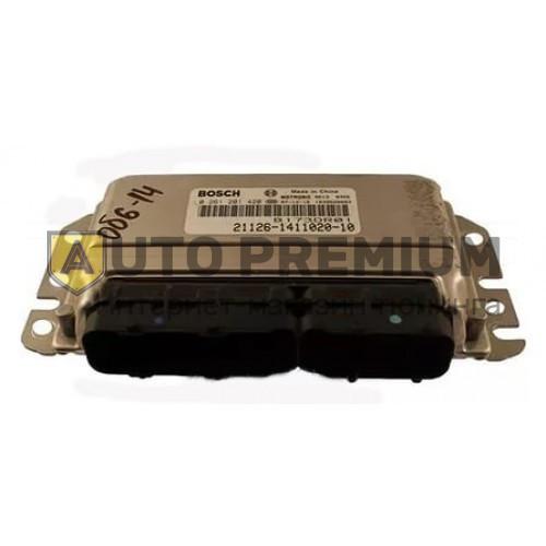 Контроллер ЭБУ BOSCH 21126-1411020-10 (VS 7.9.7). Лада Приора, 2 датчика кислорода, кондиционер